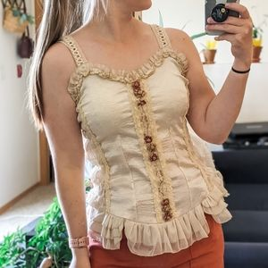 Pretty Angel Victorian Style Chemise Tank Top